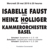 ISABELLE FAUST, VIOLON - HEINZ HOLLIGER, DIRECTION - KAMMERORCHESTER BASEL