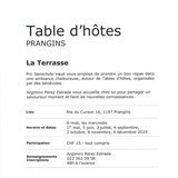 """Table d'hôtes """"La Terrasse"""""""