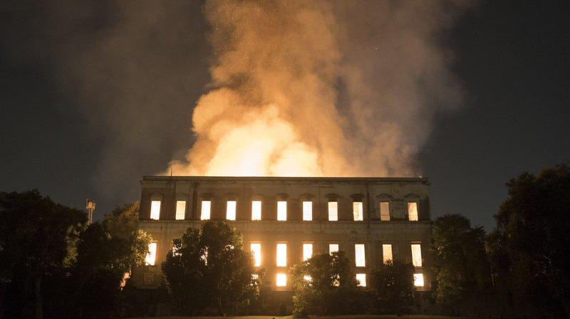 Brésil: la climatisation à l'origine de l'incendie du musée national de Rio