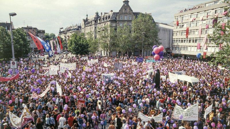 Le 14 juin 1991 (photo), les femmes avaient déjà manifesté pour l'égalité entre hommes et femmes.
