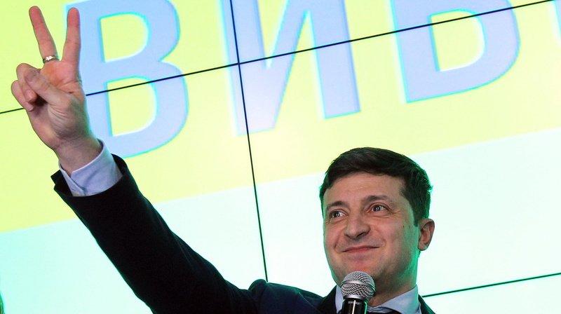 Volodymyr Zelensky a remporté 30,4% des voix contre 17,8% pour le président sortant Petro Porochenko.