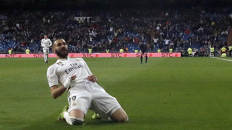 C'est un superbe enroulé de Benzema qui a permis d'arracher la victoire contre Huesca.