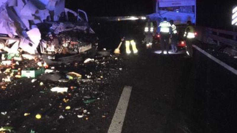 L'A9 a dû être fermée en raison d'un accident impliquant un poids lourd.