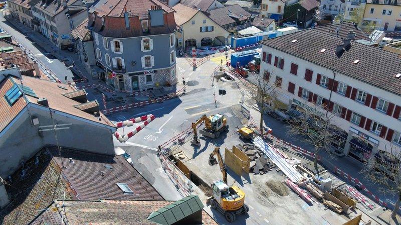 Cernés par les travaux, les commerçants versoisiens souffrent