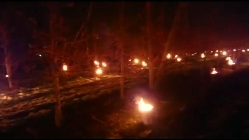 Une chaude nuit pour les arboriculteurs, mobilisés face au gel