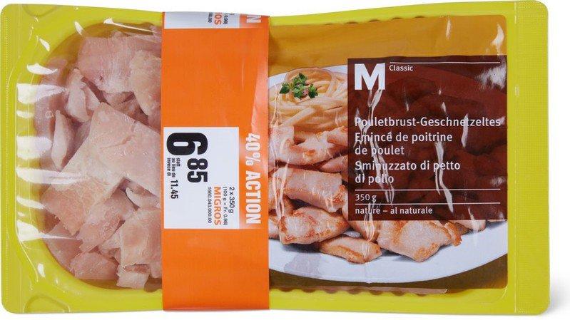 Rappel de produit: des morceaux de métal peuvent se trouver dans de l'émincé de poulet de la Migros