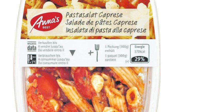 Rappel de produit: une salade de pâtes de la Migros peut contenir des bouts de plastique