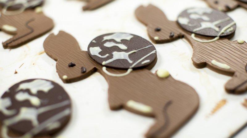 Une classe de Begnins voit son dessin devenir un lapin en chocolat