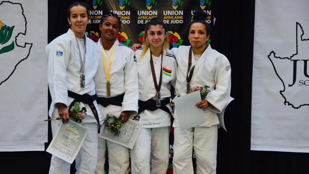 Une troisième place synonyme de points précieux en vue d'une qualification olympique pour Priscilla Morand (2e depuis la droite).