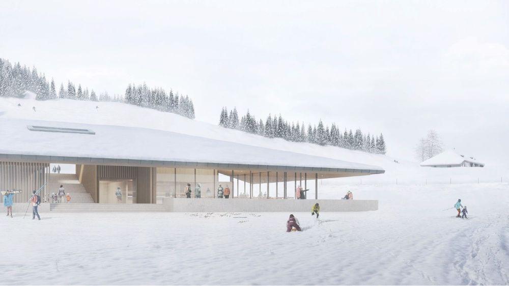 """Le centre d'accueil des Dappes, baptisé """"Le lapin blanc"""", n'accueillera pas les clients du domaine skiable de la Dôle, avant l'hiver 2020-2021."""
