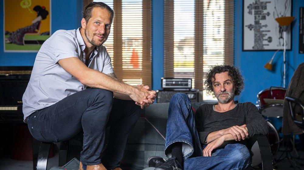 Blaise Hofmann et Stéphane Blok écrivent le livret de la Fête des vignerons en duo, dans l'antre lausannoise du poète-musicien.