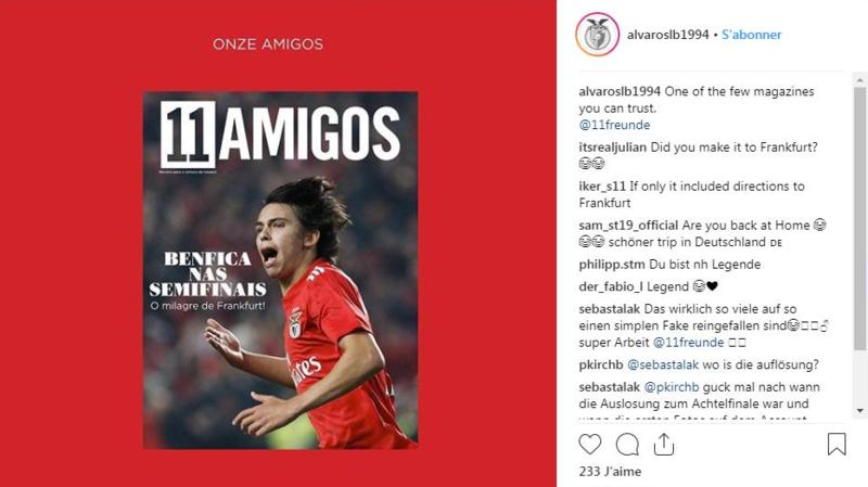 """L'histoire qui a circulé sur les réseaux sociaux et les médias était en fait d'une publicité pour le magazine allemand consacré au football """"11Freunde""""."""