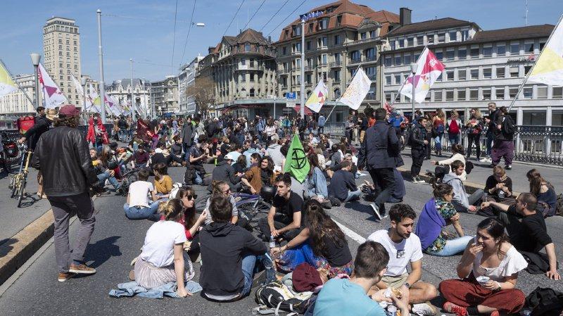 Lausanne: circulation bloquée sur le Grand-Pont le temps d'un dîner pour le climat
