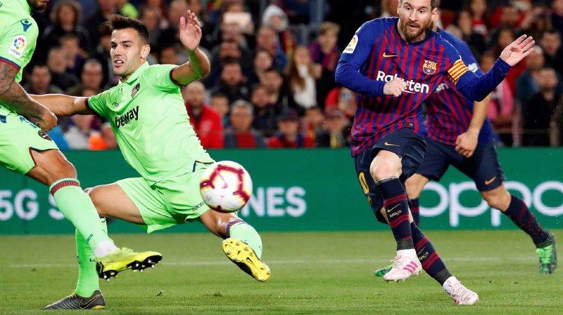 L'Argentin Messi a marqué le 598e but de sa carrière avec le Barça.