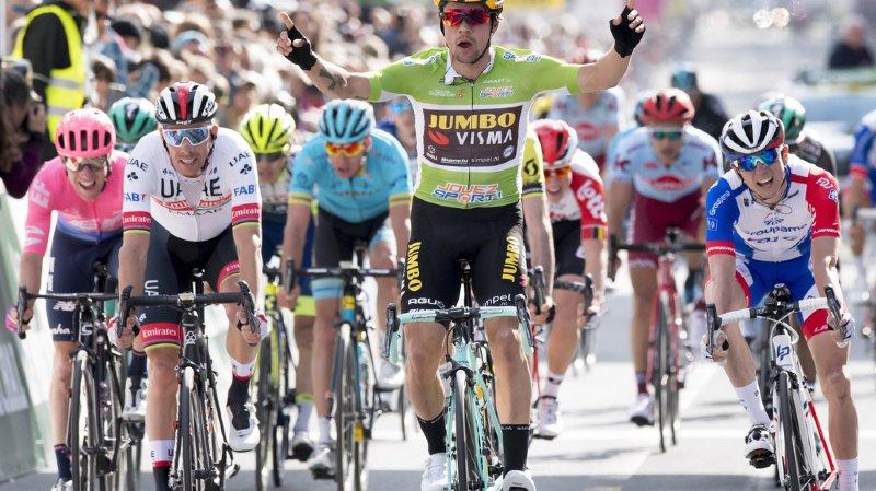 Cyclisme - Tour de Romandie: le Slovène Primoz Roglic s'impose au sprint à La Chaux-de-Fonds