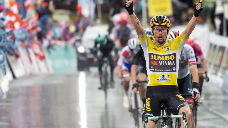 Cyclisme - Tour de Romandie: Primoz Roglic s'impose sous la pluie et le froid à Torgon