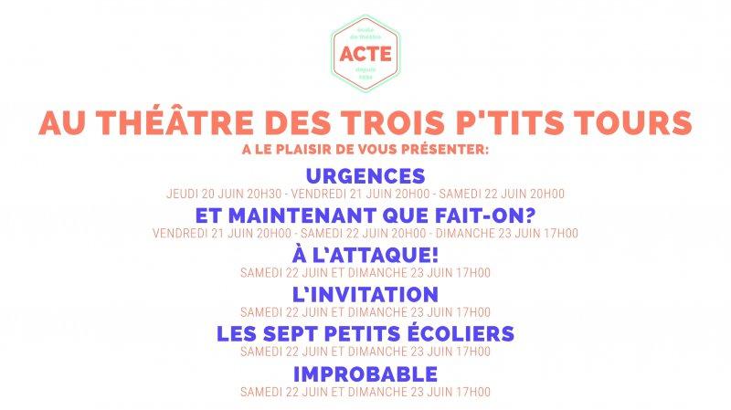ACTE théâtre au trois p'tits tours - Spectacles