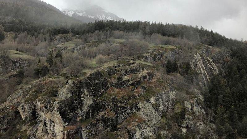 """L'accident s'est produit au lieu-dit """"Finnu"""", au-dessus d'Eggerberg, dans le Haut-Valais."""