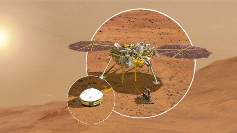 Séisme: un premier tremblement martien détecté sur la planète rouge