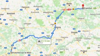 Football - Europa League: deux supporters du Benfica se trompent de Francfort et roulent 618 km de trop