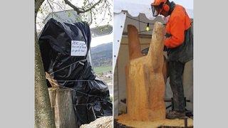 L'emblématique sculpture du Long'I'Rock dissimulée par des détracteurs
