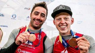 Siegwart et Wagen se parent de bronze à Gênes