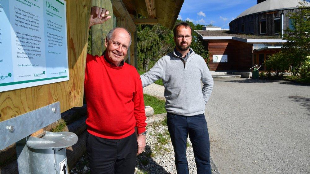 Le président Pierre-Alain Blanc et le directeur Pascal Sigg sont conscients que de mettre fin à la gratuité de l'Arboretum est un message difficile à faire passer.