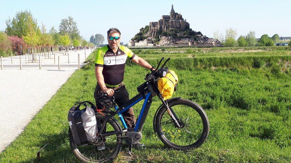 Le Mont-Saint-Michel, un des points de passage de l'itinéraire suivi par Philippe Givel.