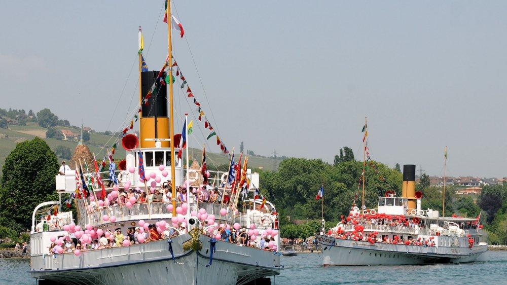 Ce dimanche, les rives de Rolle seront le théâtre de la Parade navale de la CGN ainsi que de l'inauguration d'une sculpture reçue pour les 700 ans de la ville.