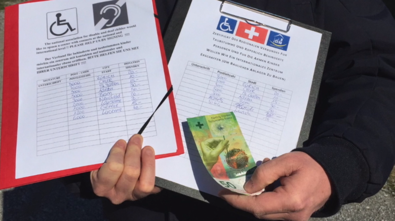 Attention aux faux sourds qui font signer des pétitions et demandent de l'argent