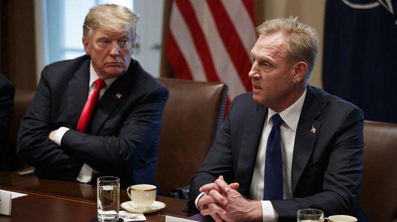 La nomination de Patrick Shanahan (à droite) à la tête du Pentagone doit encore être validée par le Sénat. (Archives)