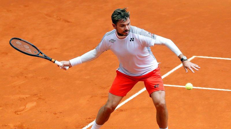 Wawrinka avait remporté le premier set 6-3 contre le Japonais Nishikori, en huitièmes de finale du Masters 1000 de Madrid.