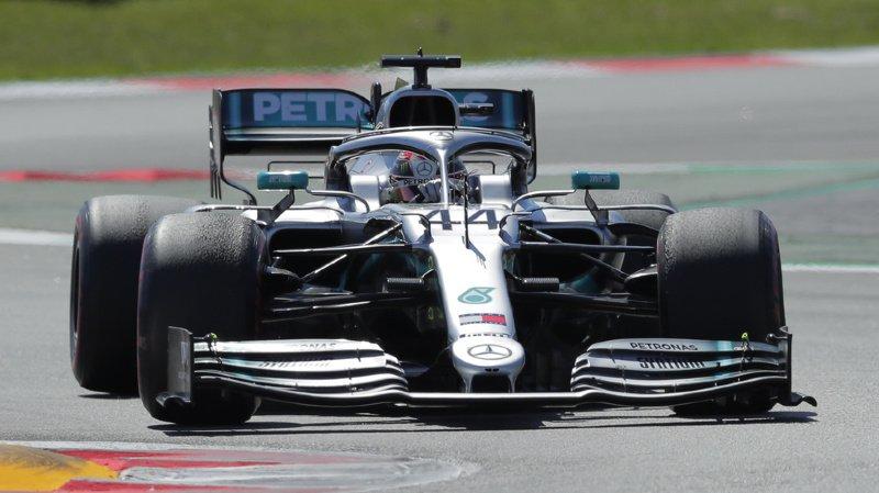 Lewis Hamilton a remporté dimanche à Barcelone le Grand Prix d'Espagne, devant son coéquipier Valtteri Bottas.