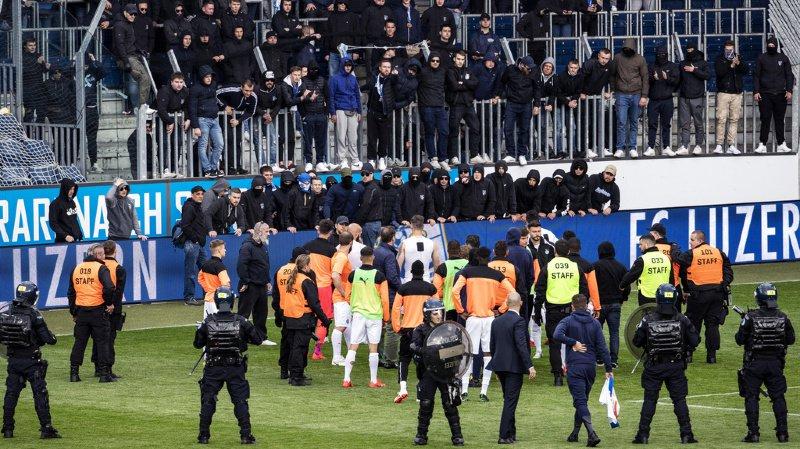 Football: plusieurs interdictions de stade après l'envahissement du terrain lors du match Lucerne-Grasshopper