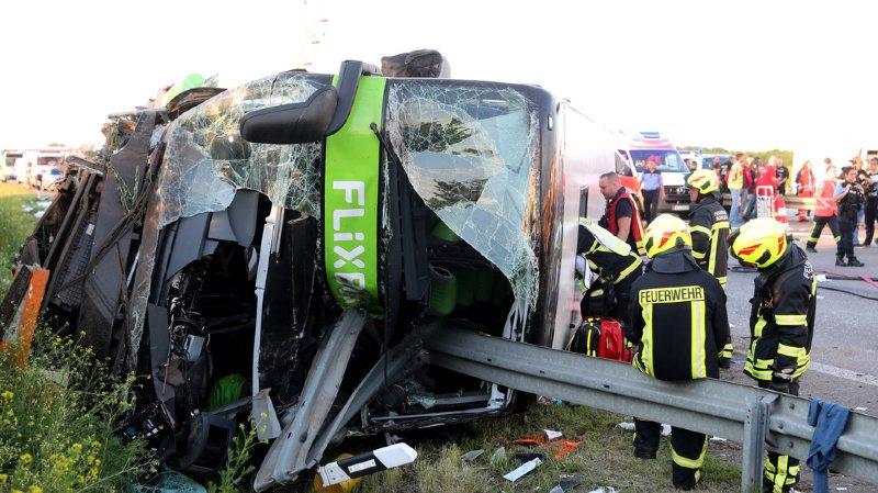 Dimanche soir, le car Flixbus transportait 74 personnes de Berlin à Munich.
