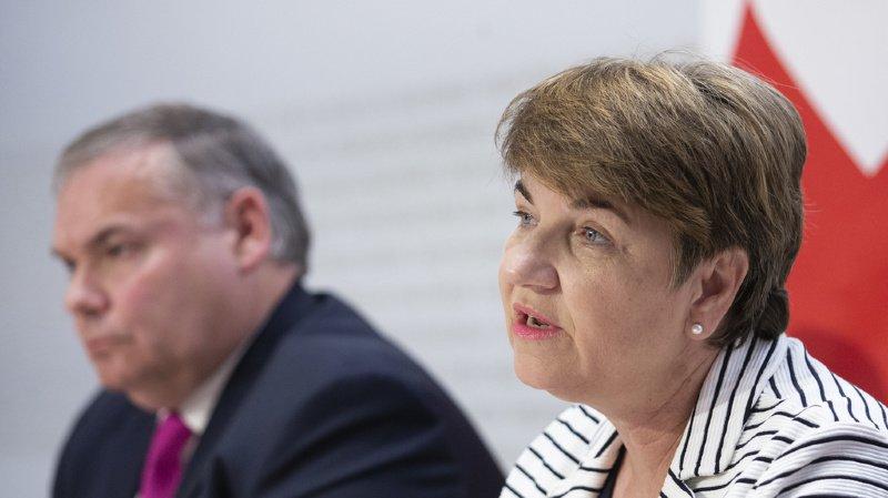 La conseillère fédérale Viola Amherd et Jean-Philippe Gaudin, directeur du Service de renseignement de la Confédération, ont présenté vendredi le rapport annuel sur la sécurité.