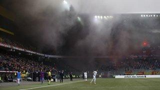 Défenseurs du climat à la finale de la Coupe de Suisse à Berne, supporters violents