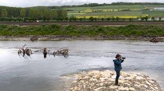 Yverdon-les-Bains: aménagement de la Thièle à mi-chantier