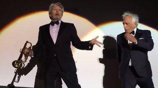 Ils l'ont fait! Chabat et Darmon ont dansé la Carioca pour les 25 ans de «La cité de la peur»