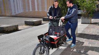 A Nyon, des vélos-cargos électriques entrent dans la course