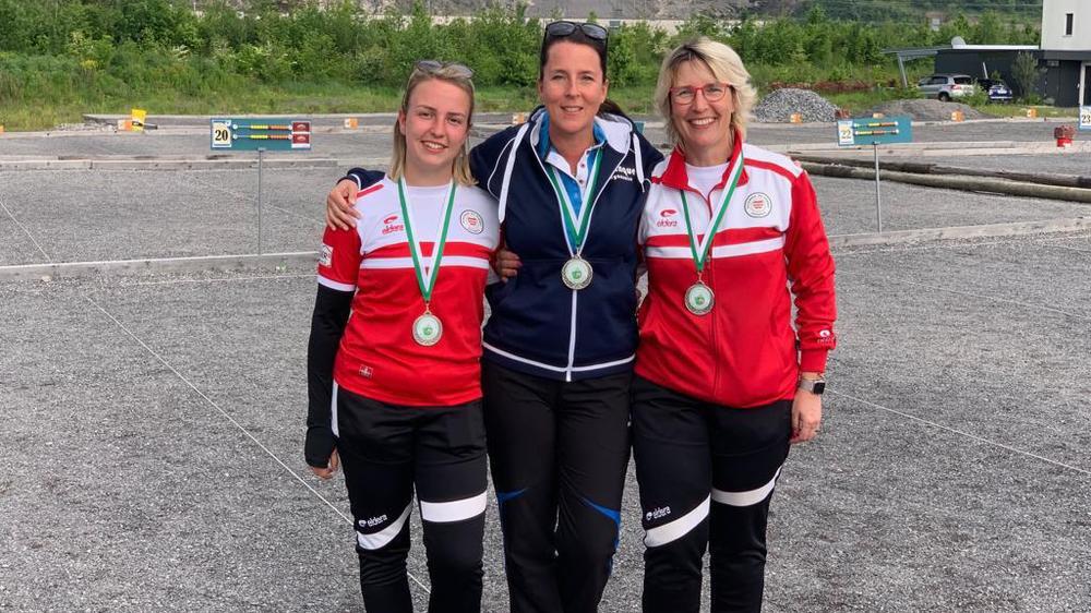 Emilie Mettairon, Sonia Stalder et Sylviane Mettairon se sont classées au 2e rang du championnat vaudois de triplettes.