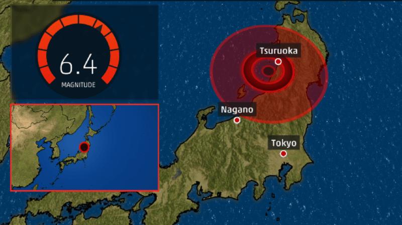 Japon: un puissant séisme dans le nord-ouest provoque un petit tsunami et fait une vingtaine de blessés légers