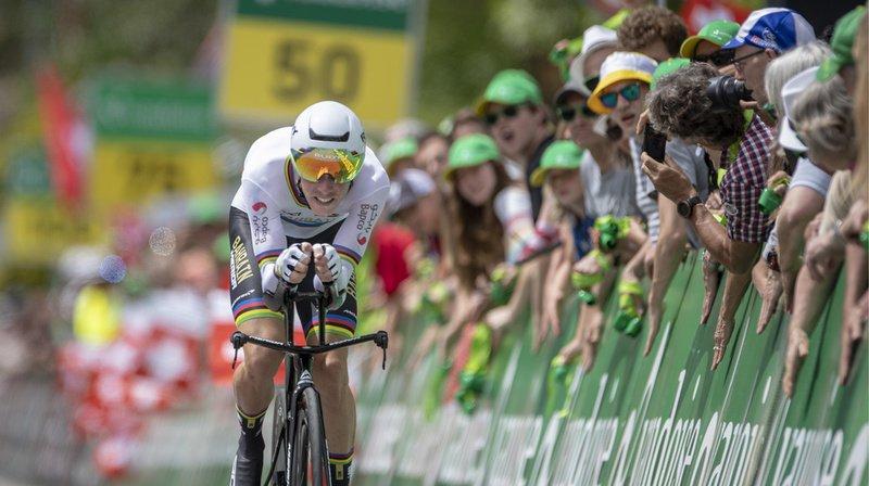 Rohan Dennis a remporté la 1ère étape du Tour de Suisse samedi.