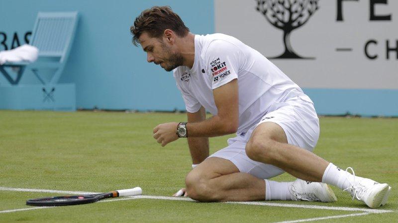 Tennis: tournoi ATP du Queen's: Stan Wawrinka sorti en 8es de finale par Nicolas Mahut