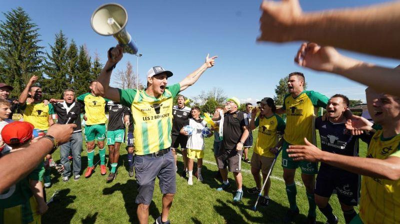 Victorieux, les «canari» volent vers la 2e ligue inter
