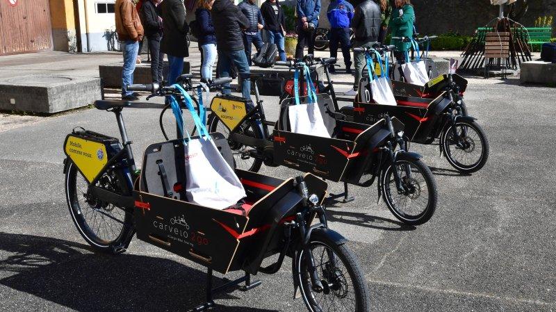 Des vélos cargos ont récemment été inaugurés à Nyon.