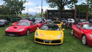 Pléthore de Ferrari à Morges mercredi après-midi