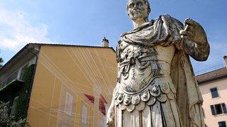 Nyon: la statue de César quitte temporairement son piedéstal