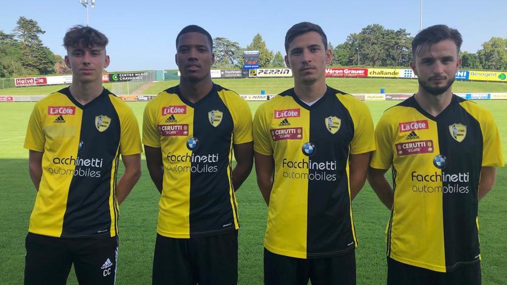 Les nouveaux visages du Stade Nyonnais: De gauche à droite, Pédat, Vieira, Omeragic et Qarri.