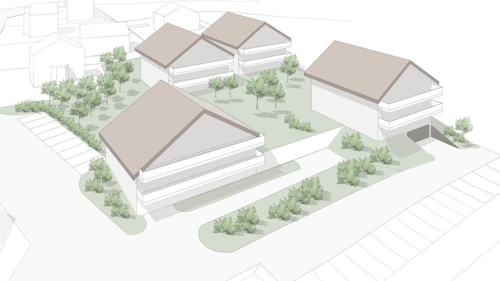 Le projet, dont les détails doivent encore être finalisés, compte quatre bâtiments.
